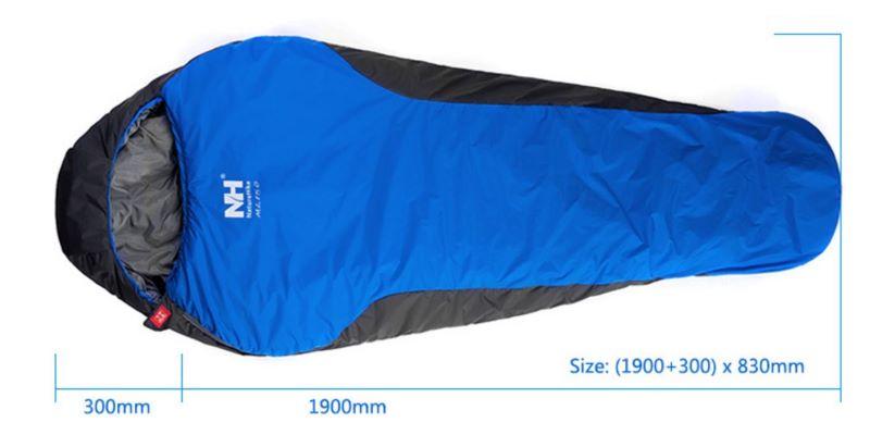 Kích thước của túi ngủ cá nhân
