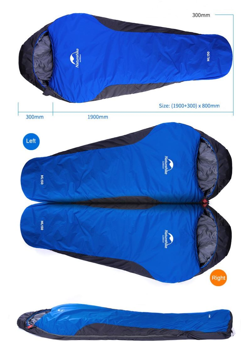 Túi ngủ cá nhân Naturehike màu xanh