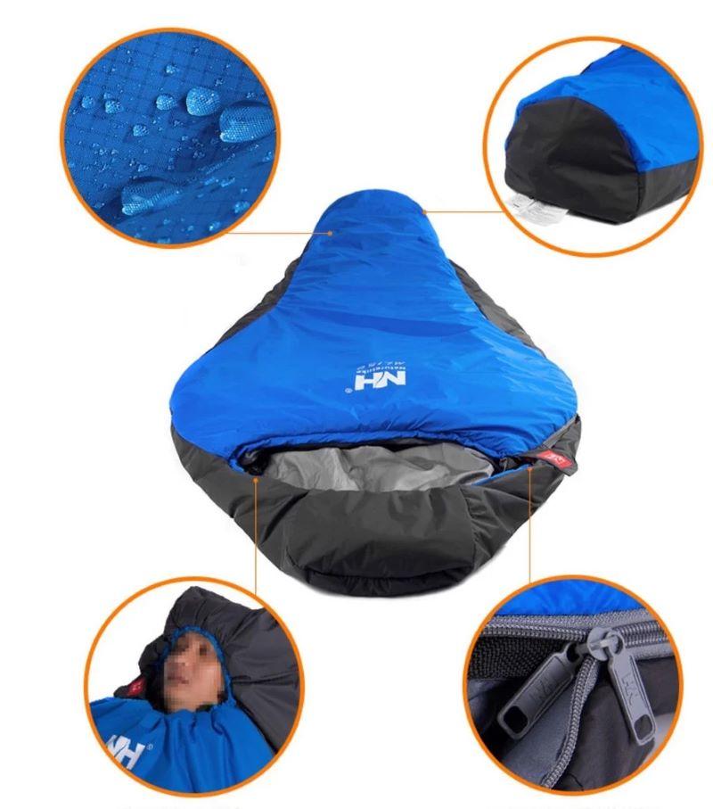 Cận cảnh các thiết kế khóa kéo, mũ, phần chân của túi ngủ cá nhân