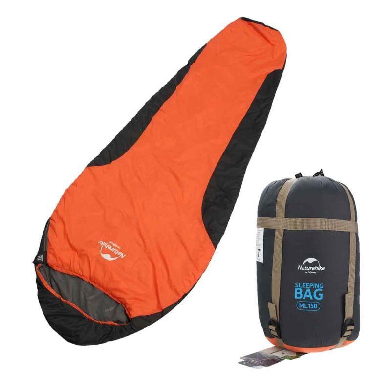 Túi ngủ cá nhân dễ dàng bảo quản gấp gọn trong bao nén