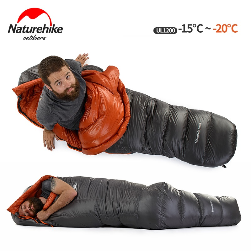 Túi ngủ cao cấp Ul1200 với thiết kế hình con nhộng thuôn dài giữ nhiệt tốt