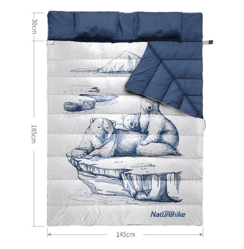 Túi ngủ 2 người NH19S016 với thiết kế hình chữ nhật