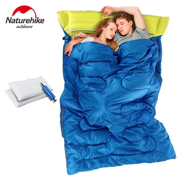 Túi ngủ đôi Naturehike 0611 màu xanh