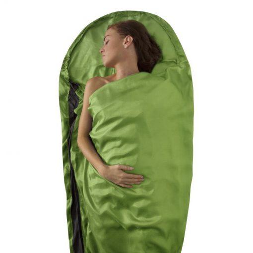 Túi ngủ lụa Sea to Summit Premium Silk Travel Liner màu xanh lá