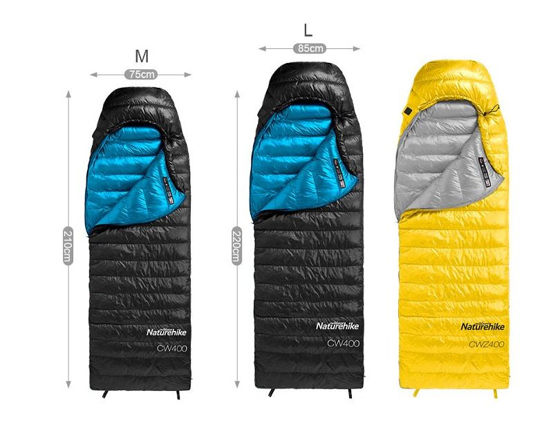 Túi ngủ CWZ400 bao gồm 2 kích thước size M và L