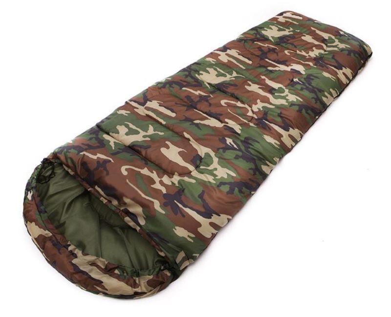 Túi ngủ rằn ri với thiết kế hình chữ nhật thuôn dài