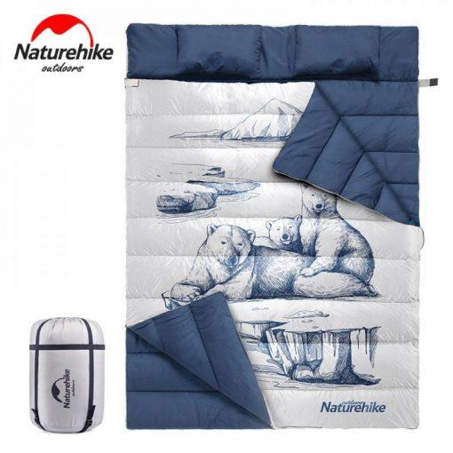 Túi ngủ vải Naturehike NH19S016 họa tiết 3 con gấu