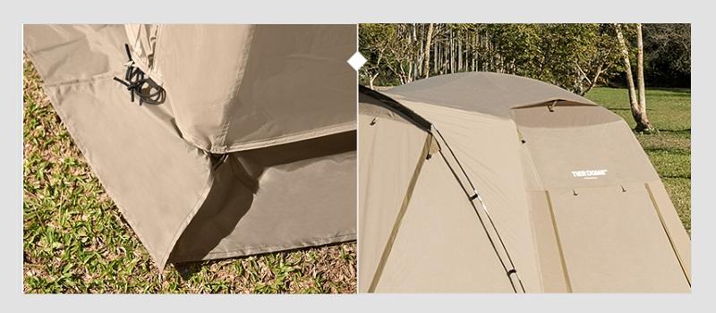 Chất liệu khung Lều 2 lớp du lịch Kazmi K20T3T006