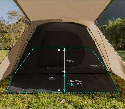 thiết kế của Lều 2 lớp du lịch Kazmi K20T3T006