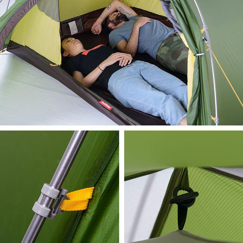 Cận cảnh thiết kế của Lều 2 người (lều đôi) Naturehike NH17K240-Y