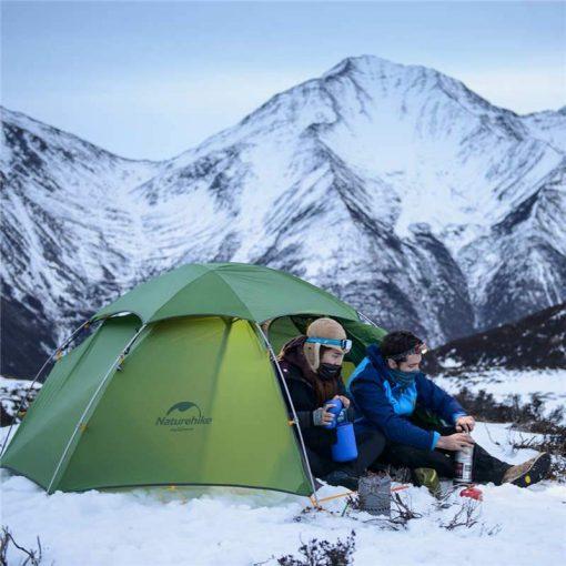 Sử dụng Lều 2 người (lều đôi) Naturehike NH17K240-Y mùa đông