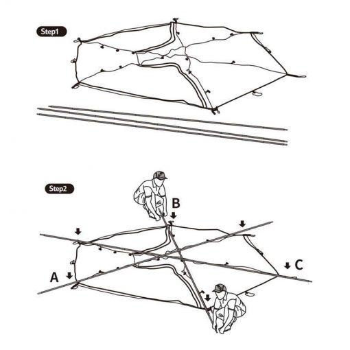 Cách dựng Lều 2 người (lều đôi) Naturehike NH17K240-Y