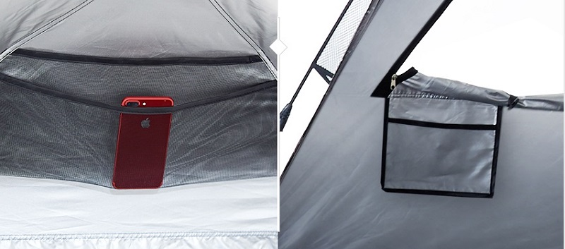 Thiết kế túi đựng bên trong của Lều 3 người Kazmi K8T3T015