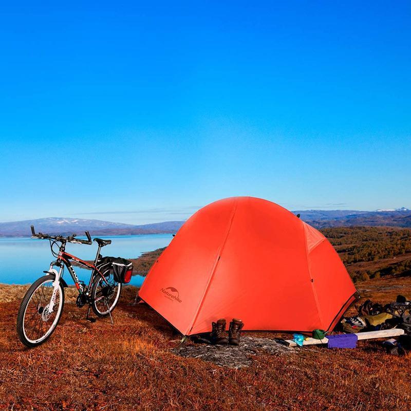 Sử dụng Lều cá nhân (Lều 1 người) đi cắm trại Naturehike NH18A095 màu đỏ