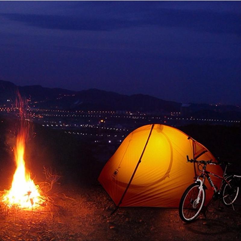 sử dụng Lều cá nhân (Lều 1 người) đi cắm trại Naturehike NH18A095 màu vàng