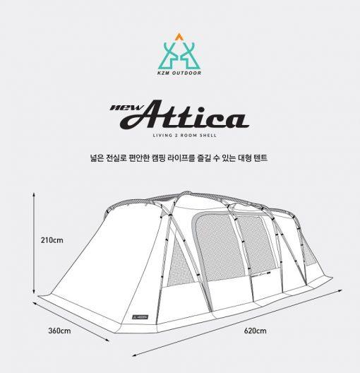 Kích thước của Lều cắm trại 5 người Kazmi K20T3T013