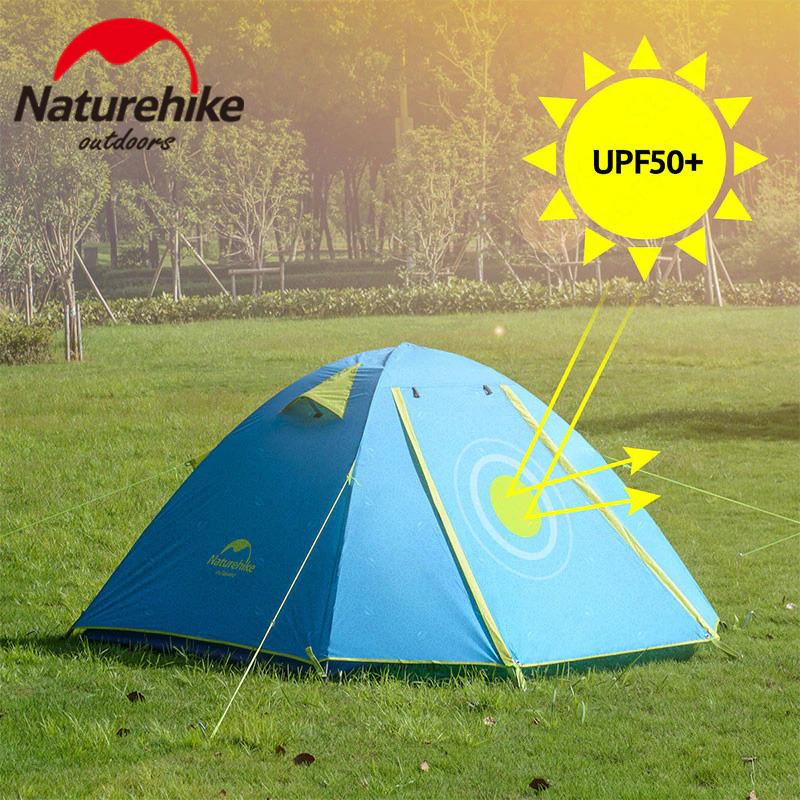 Chất liệu của Lều cắm trại chống mưa, nắng UPF 50+ Naturehike NH18Z033-P