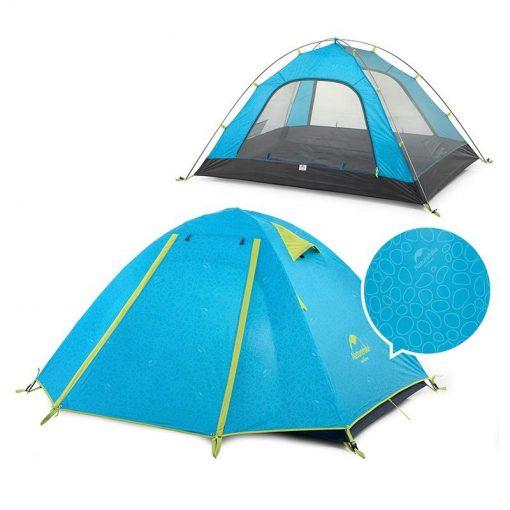 Lều cắm trại chống mưa, nắng UPF 50+ Naturehike NH18Z033-P màu xanh da trời