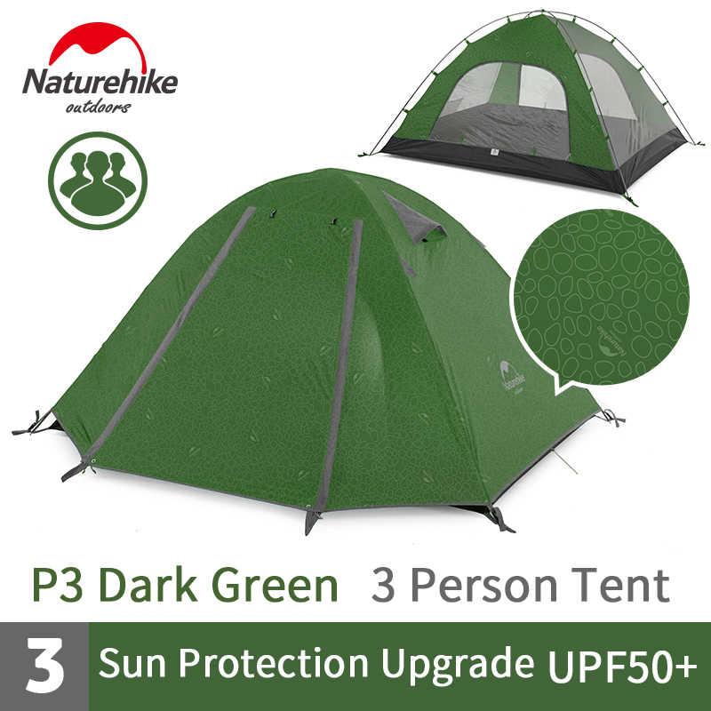Lều cắm trại chống mưa, nắng UPF 50+ Naturehike NH18Z033-P màu xanh lá đậm