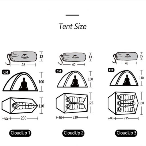 Lều cắm trại Naturehike NH17T001-T 2 người