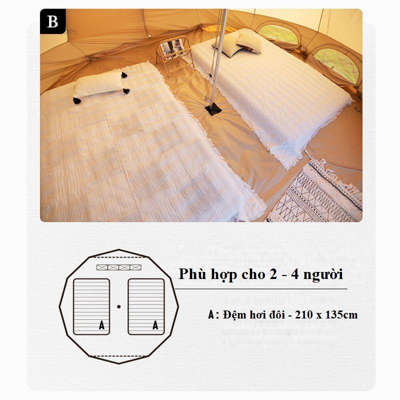 cách sắp xếp không gian trong lều mông cổ Naturehike Glamping Pyramid 12.3