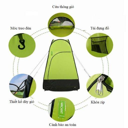 Các thiết kế của Lều thay đồ, tắm rửa, đi vệ sinh cắm trại Naturehike NH17Z002