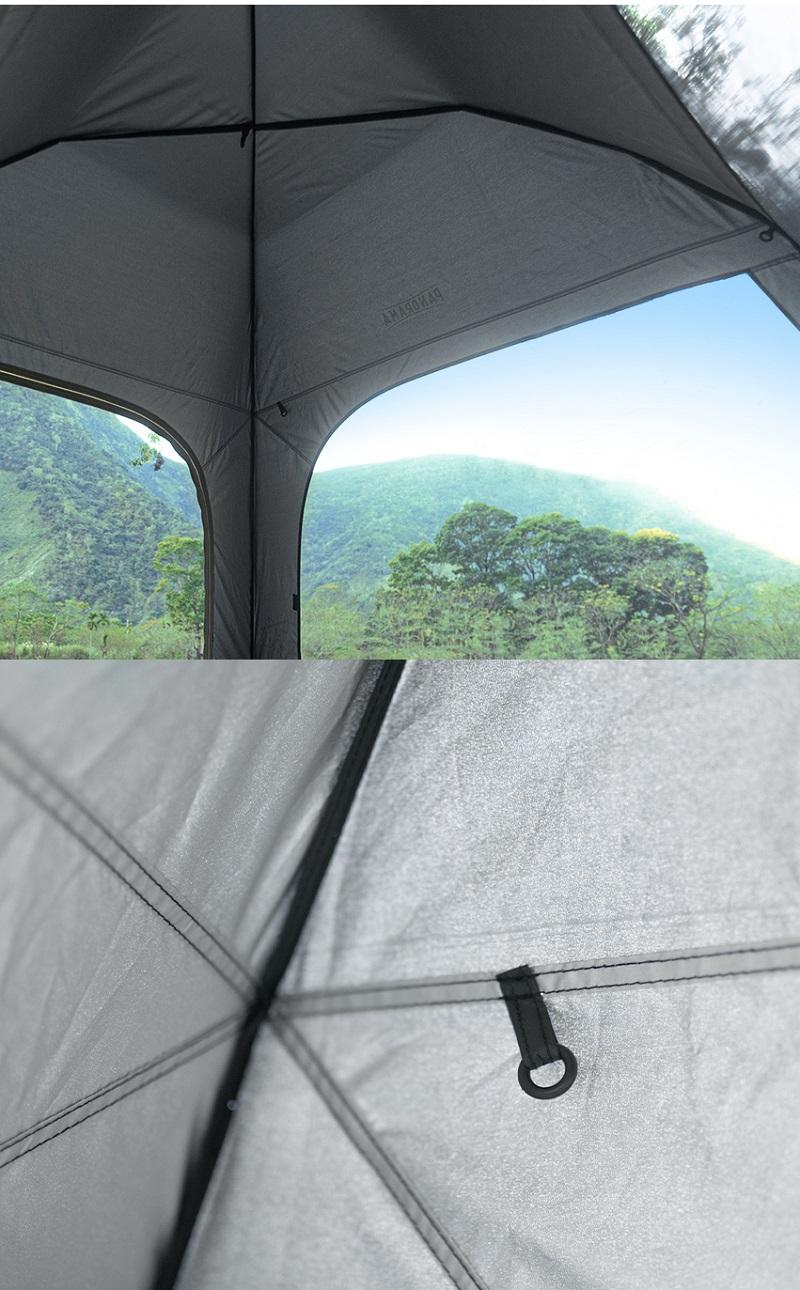Cận cảnh chất liệu của Lều tự bung 4 người Kazmi K20T3T002