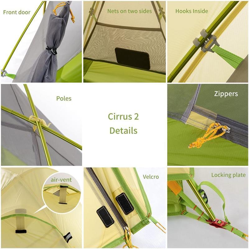 Thiết kế của Lều trại siêu nhẹ 2 người Naturehike NH17T0071-T